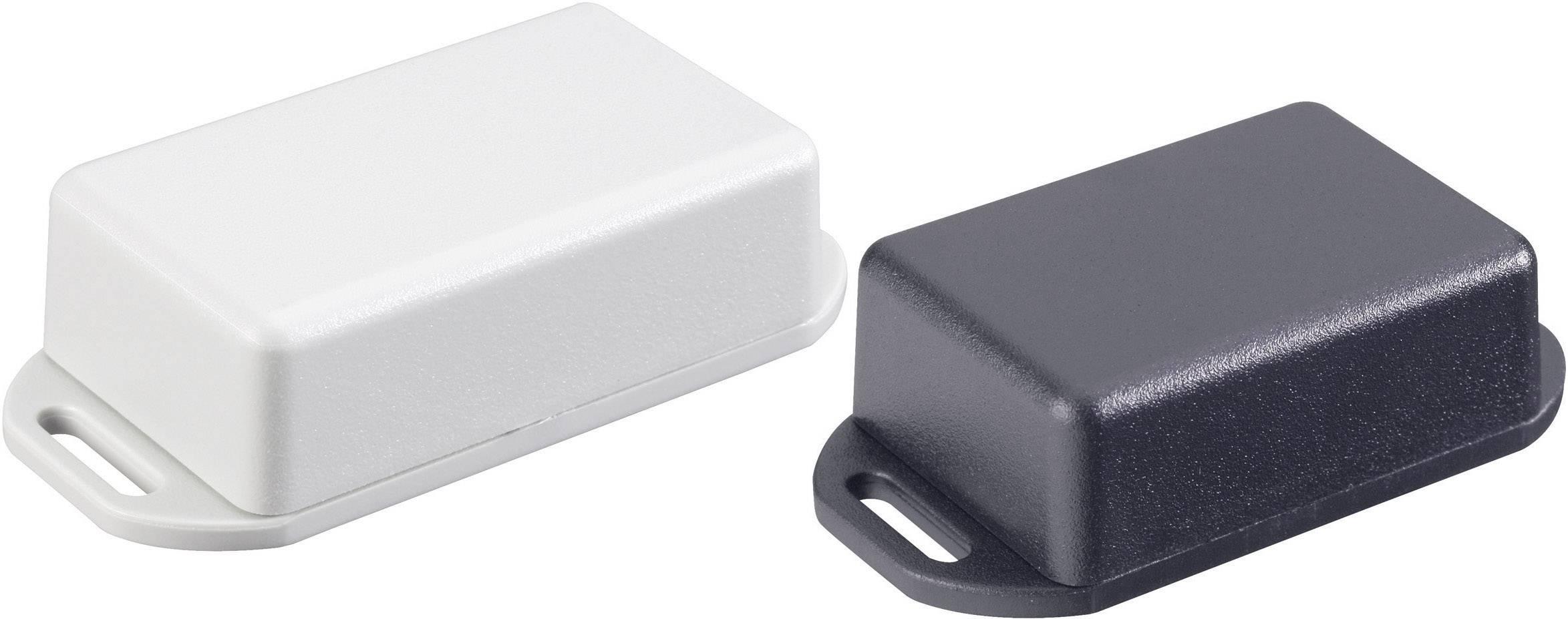 Euro krabice Hammond Electronics 1551MFLBK 1551MFLBK, 35 x 35 x 20 , ABS, čierna, 1 ks