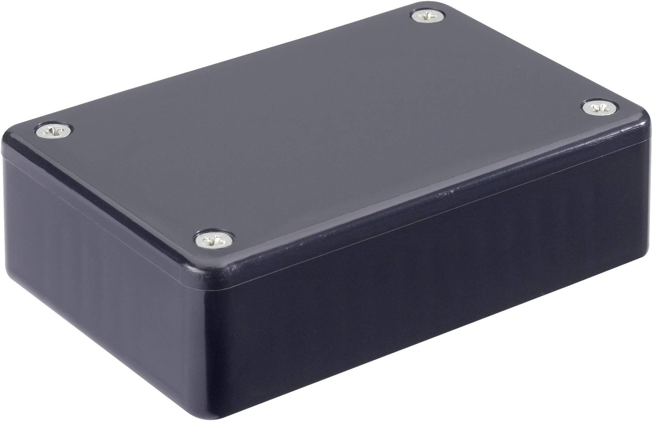 Euro krabice Hammond Electronics 1591MBK 1591MBK, 85 x 56 x 25 , ABS, čierna, 1 ks