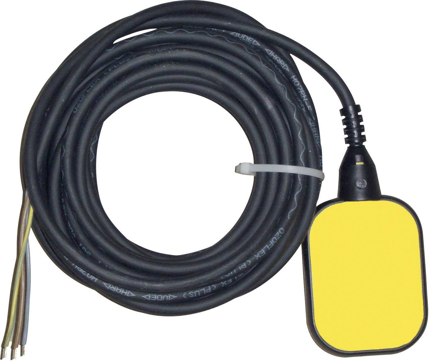 Plavákový spínač pre napúšťanie/vypúšťanie Zehnder Pumpen 14527, 2 m, žltý