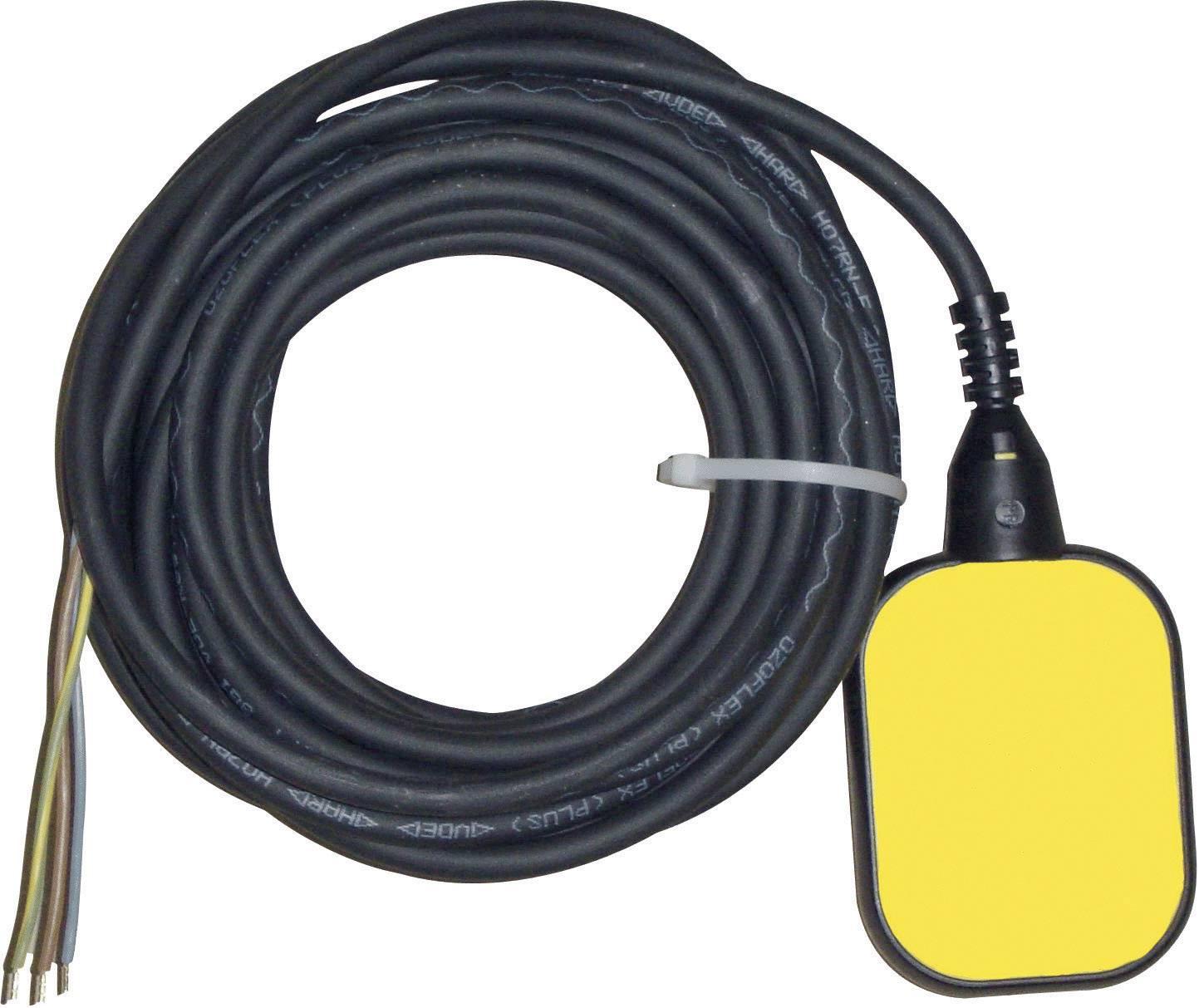 Plavákový spínač pre vypúšťanie Zehnder Pumpen 14509, 2 m, žltý