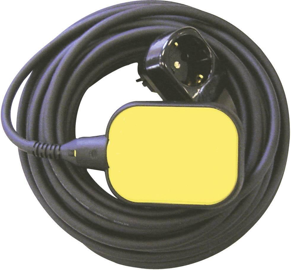Plavákový spínač pre vypúšťanie so zásuvkou Zehnder Pumpen 11393, žltý