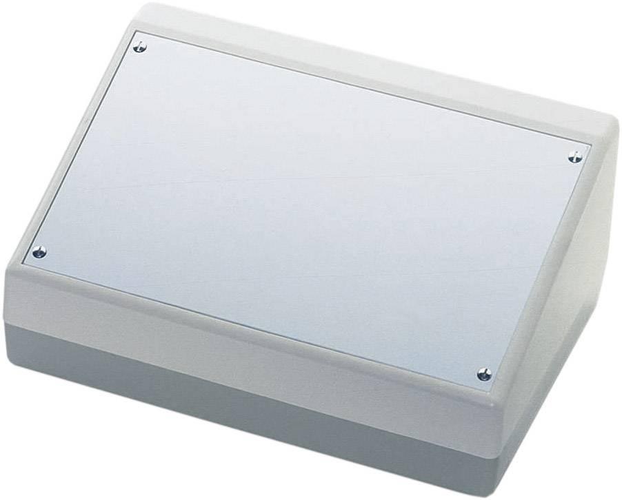 Pultové pouzdro ABS OKW Pultgehäuse F, (š x v x h) 228 x 76/50 x 216 mm, hliníková