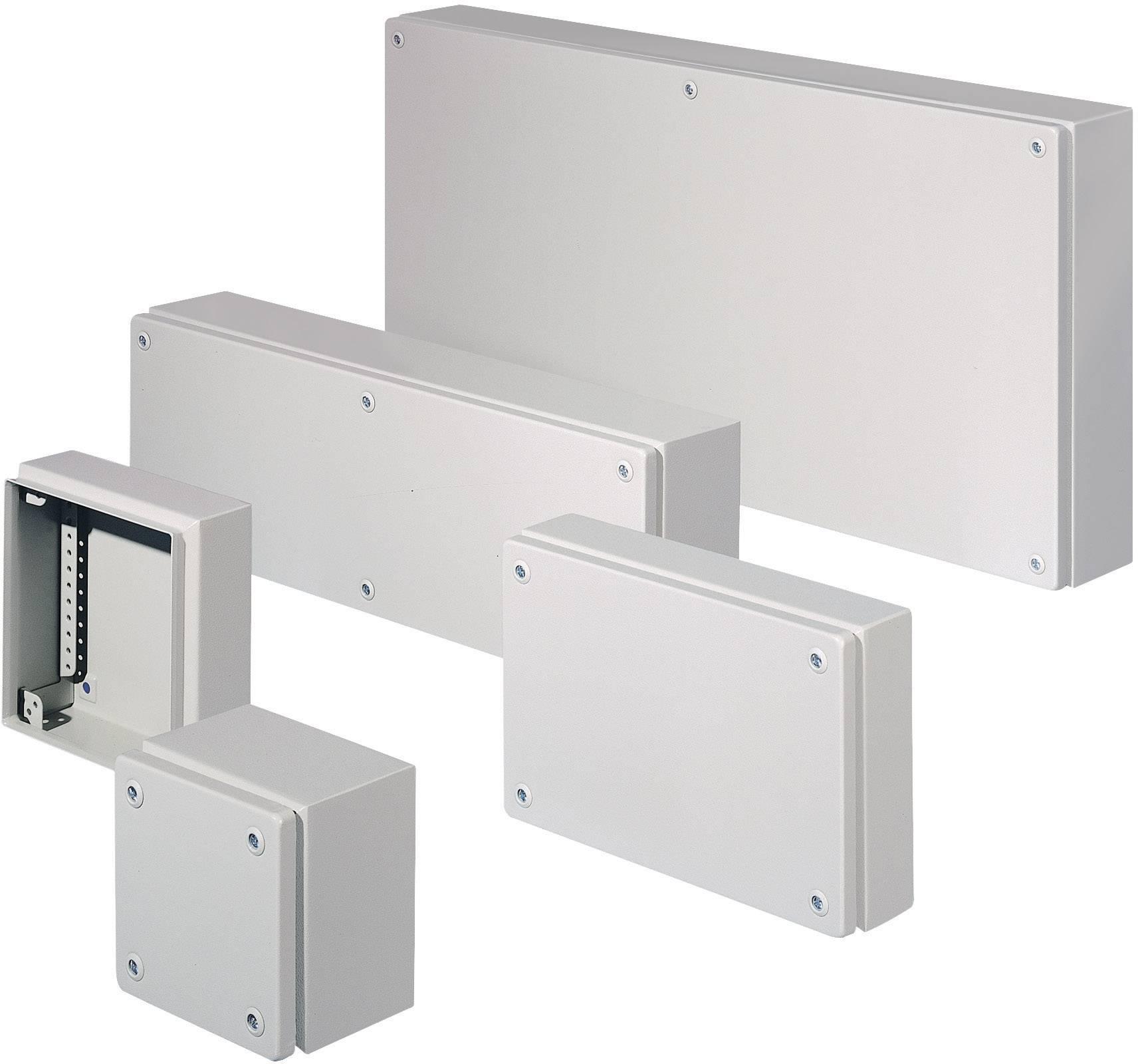 Inštalačná krabička Rittal KL 1502.510, (š x v x h) 200 x 200 x 120 mm, oceľový plech, šedá, 1 ks
