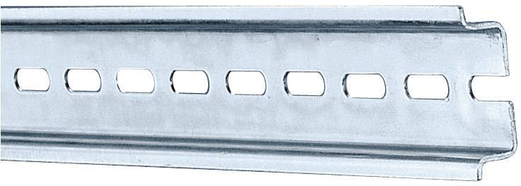Koľajnica s otvormi Rittal SZ TS35/7,5 2317000, s otvormi, 387 mm, oceľový plech, 1 ks