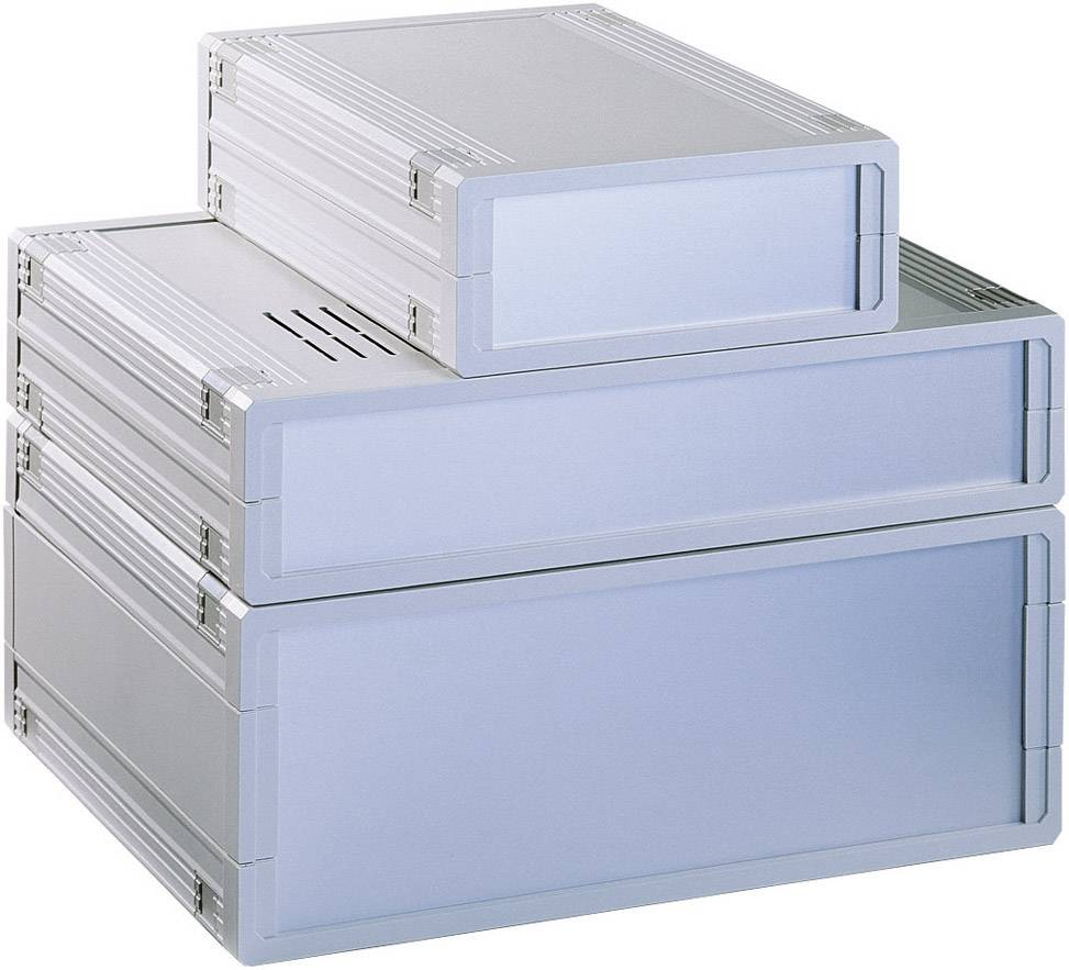 Stolní pouzdro ABS Bopla UM32009L+2X FP30009, (š x v x h) 157,5 x 62,2 x 199 mm, šedá (UM 32