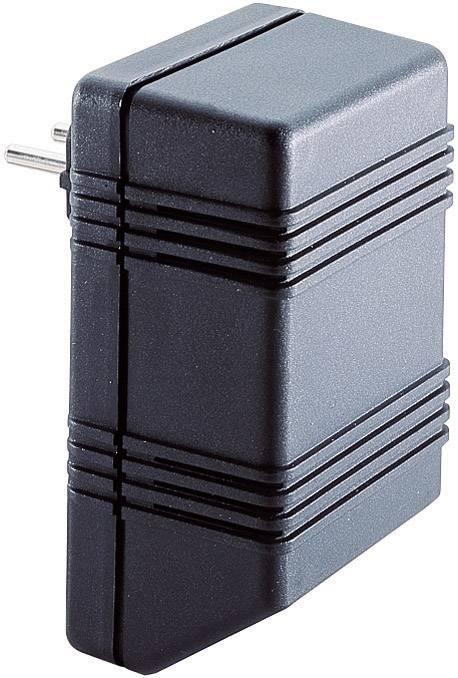 Puzdro na zástrčku TRU COMPONENTS TC-SG721 SW203, umelá hmota, 126 x 75 x 53 , čierna, 1 ks