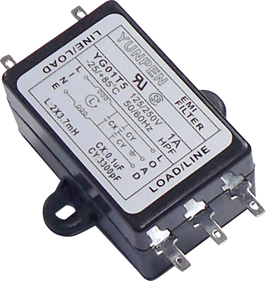 Odrušovací filtr Yunpen YG01T5, 125/250 V/AC (50/60Hz), 250 V/AC, 1 A,