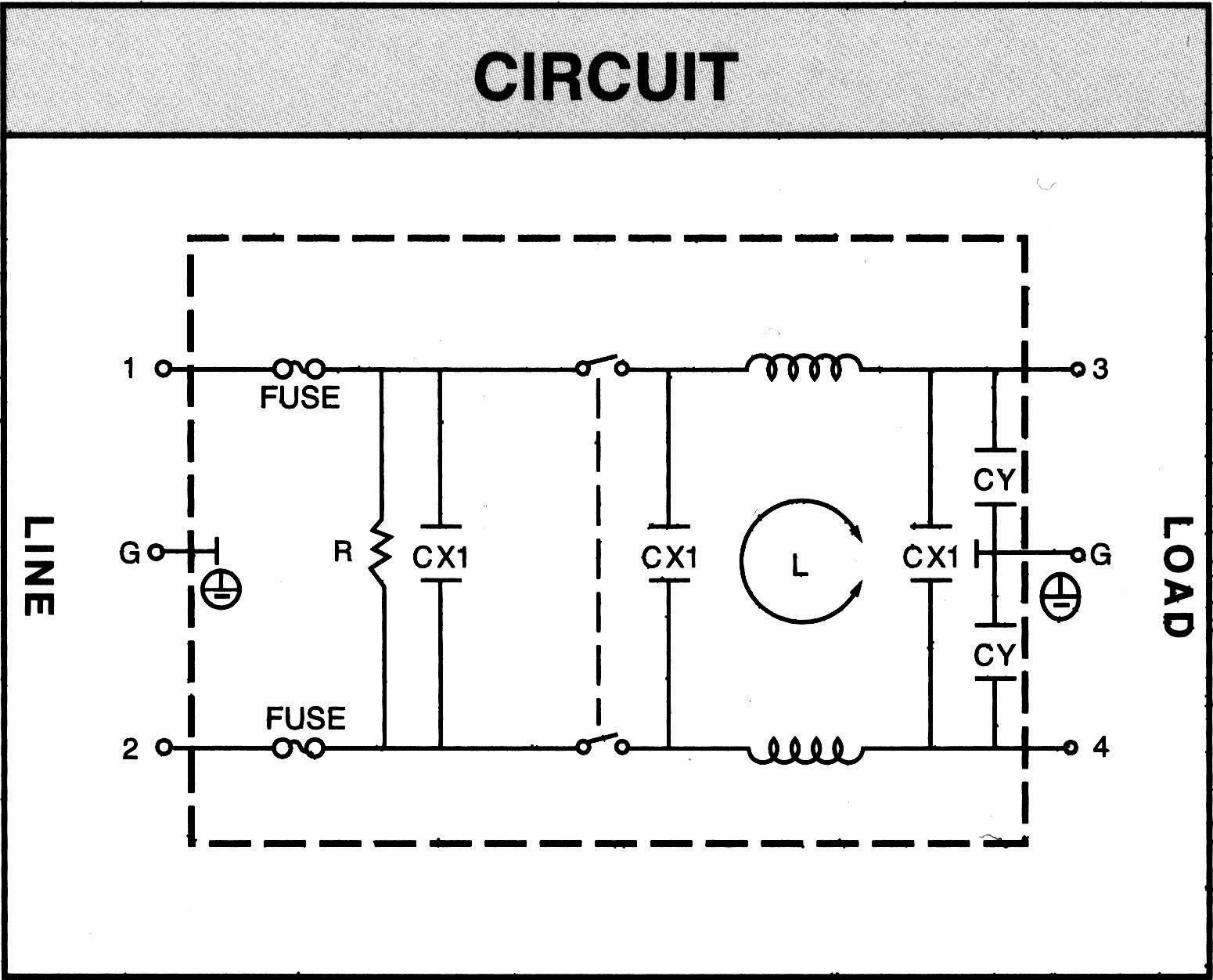 Sieťový filter Yunpen YQ01A1 521361, s IEC zásuvkou, so spínačom, s dvoma poistkami, 250 V/AC, 1 A, 10.5 mH, (d x š x v) 68 x 52.5 x 61 mm, 1 ks