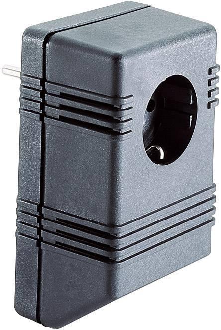 Puzdro na zástrčku Strapubox SG722, umelá hmota, 126 x 75 x 53 , čierna, 1 ks