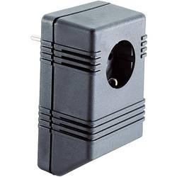 Puzdro na zástrčku TRU COMPONENTS TC-SG722 SW203, umelá hmota, 126 x 75 x 53 , čierna, 1 ks