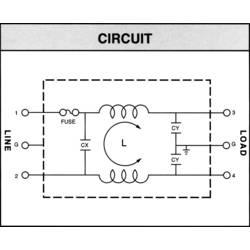 Síťový filtr Yunpen YL10T1, 2 x 0,3 mH, 125/250 V/AC, (50/60 Hz), 10 A