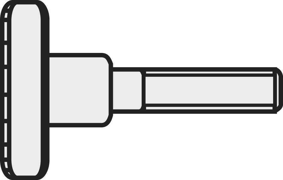 Rýhované šrouby TOOLCRAFT, DIN 464, M4 x 16, 10 ks