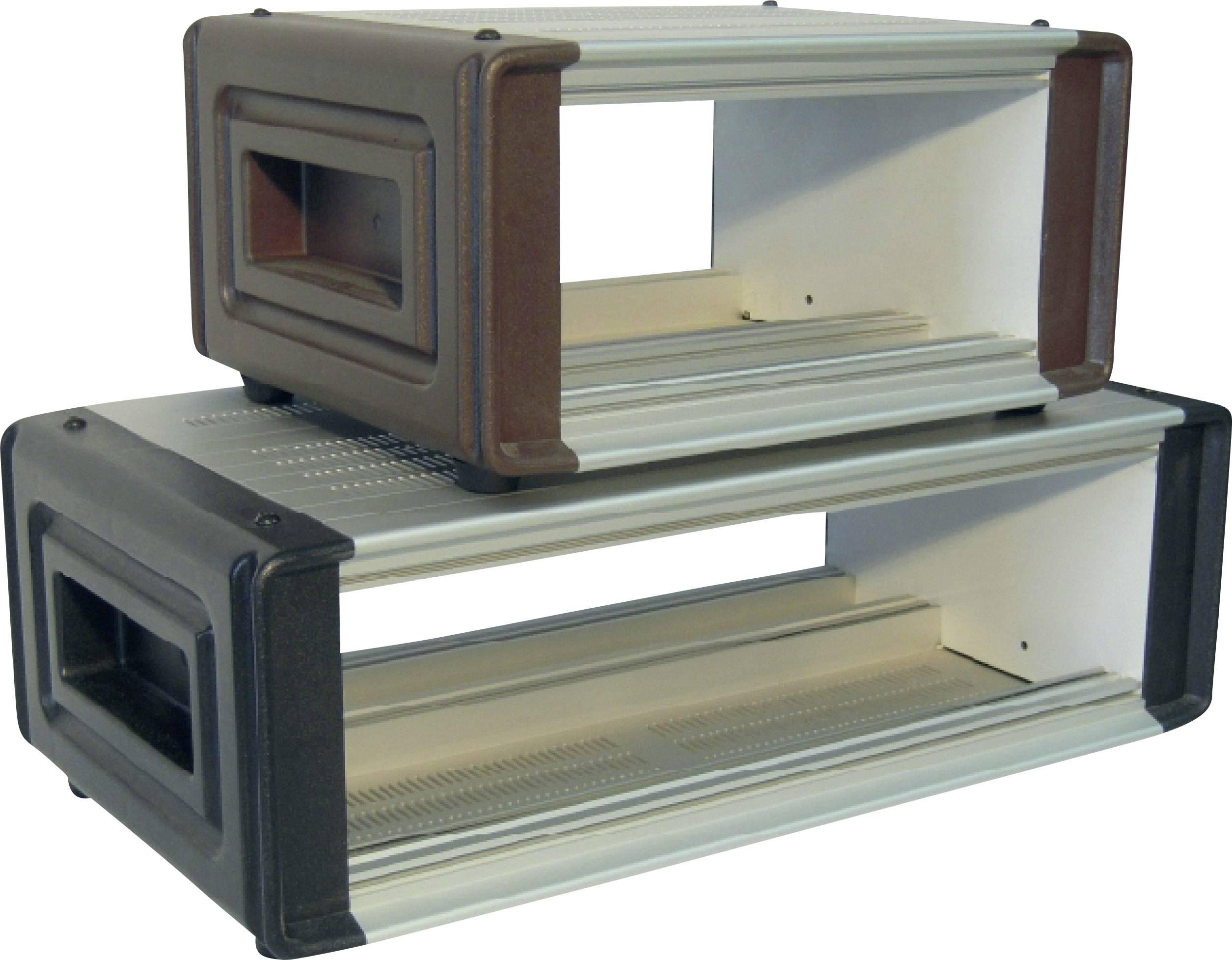 Puzdro konektora Proma 133046, 510 x 175 x 280 mm, hliník, umelá hmota, hliník (eloxovaný), hnedá, 1 ks