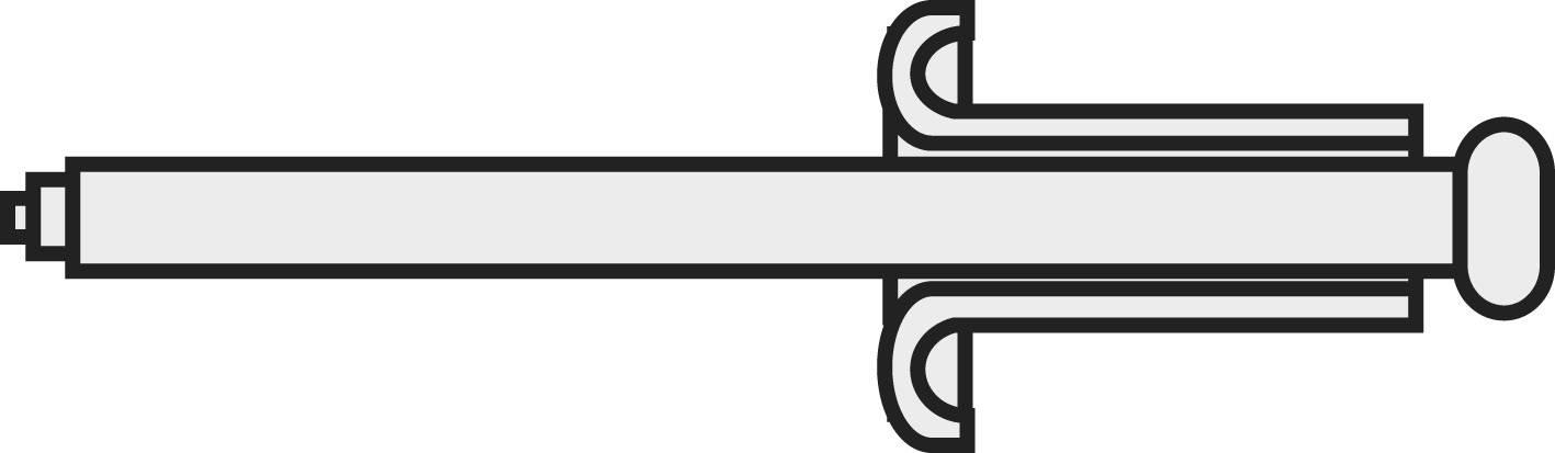Jednostranně uzavíratelné nýty Toolcraft, DIN 7337, 2,4 x 8 mm, 10 ks