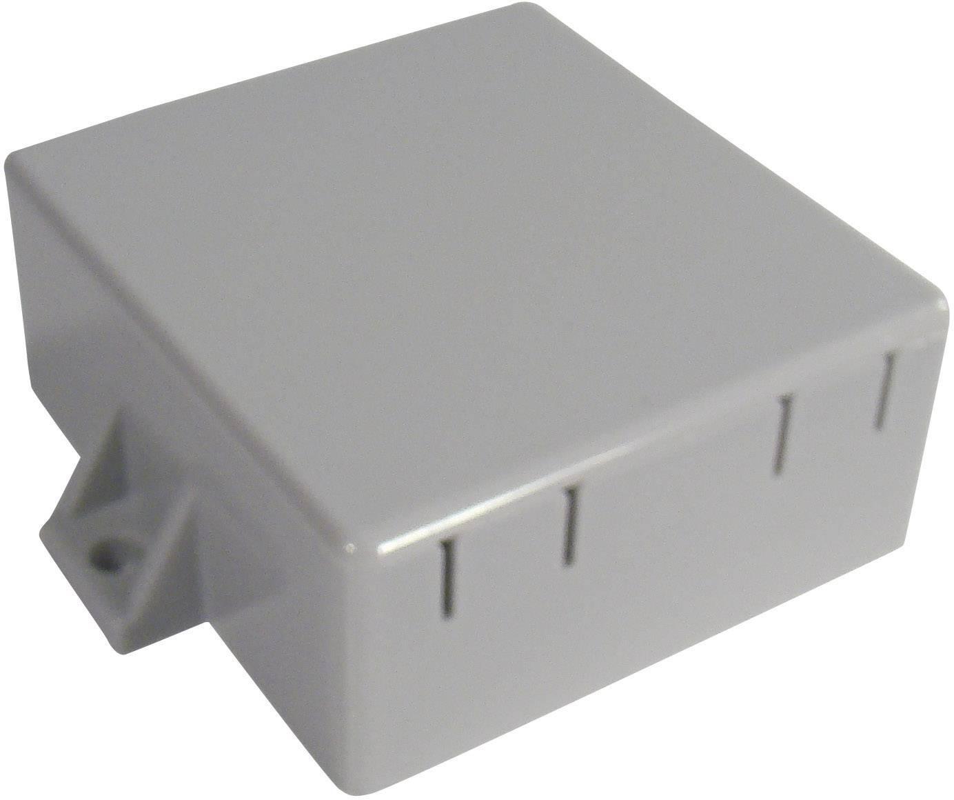 Modulová krabička WeroPlast 2054/1007, 64 x 60 x 26 , ABS, sivá, 1 ks