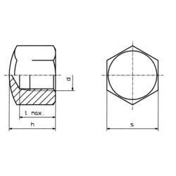 Klobúková matica uzavretá TOOLCRAFT M4 D917-STAHL:A2K 194783, M4, N/A, ocel, 10 ks