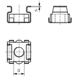 Klietkové matice TOOLCRAFT 521810, M5, N/A, ocel, 10 ks