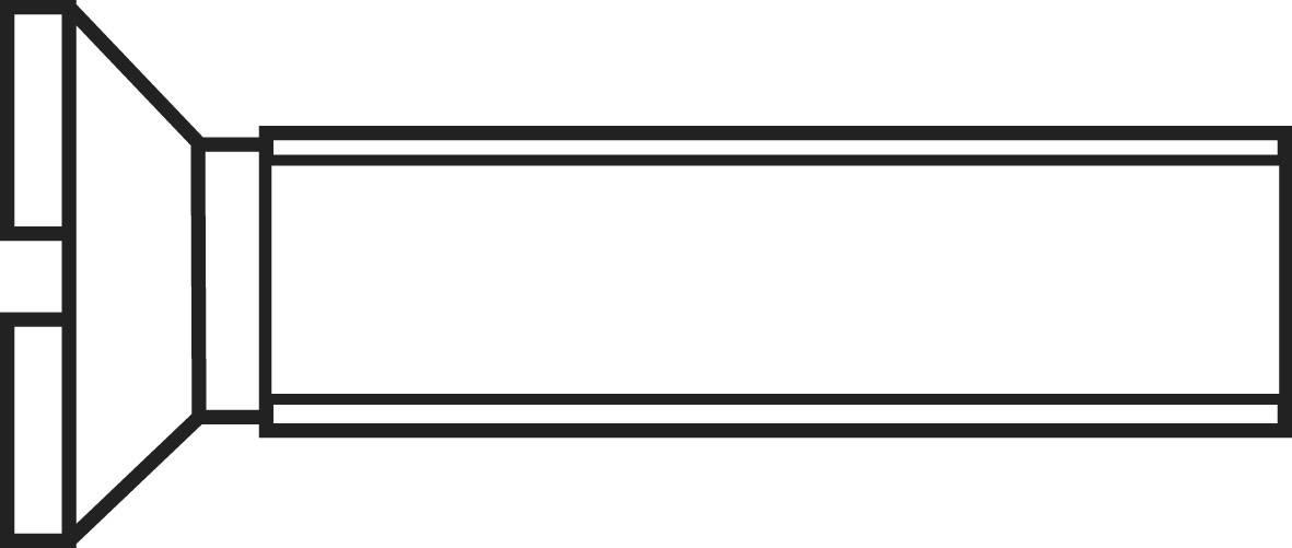 Šrouby se zápustnou hlavou s drážkou TOOLCRAFT, DIN 963, M2 x 8 mm, 100 ks
