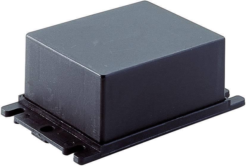 Plastová modulová skříň, (d x š x v) 83 x 68 x 22,8 mm, černá (AMG 5)