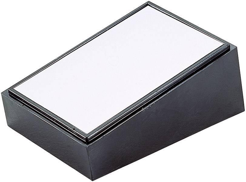 Pultové pouzdro plastové TEKO, (d x š x v) 213 x 130 x 39/77 mm, černá;stříbrná (PULT 104)