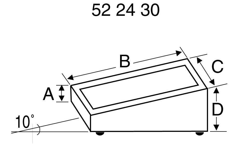 Pultové pouzdro plastové TEKO, (d x š x v) 84 x 56 x 18/36 mm, černá;stříbrná (PULT 101)