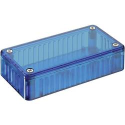 Transparentní pouzdro z polykarbonátu Hammond Electronics 1591 ETBU, 191 x 110 x 61 , modrá