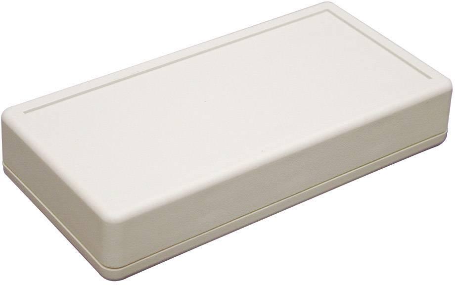 Plastová krabička Hammond Electronics 1599BSGY, 130 x 65 x 25 mm, polystyrén, IP54, sivá, 1 ks