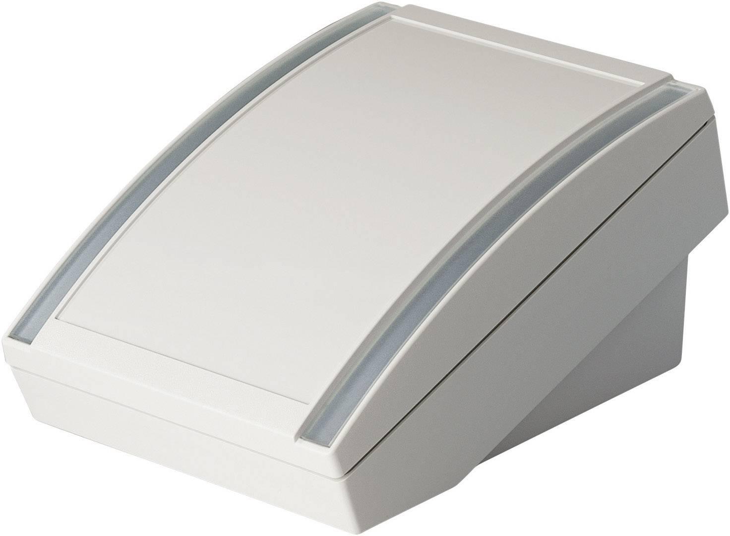 Skrinka na ovládací pult OKW DATEC S, 180 x 130 x 86 mm, ABS, sivobiela (RAL 9002), 1 ks