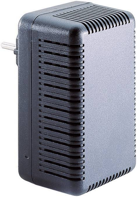 Puzdro na zástrčku TRU COMPONENTS TC-563 SG 321 SW203, ABS, 111 x 68 x 51.3 , čierna, 1 ks