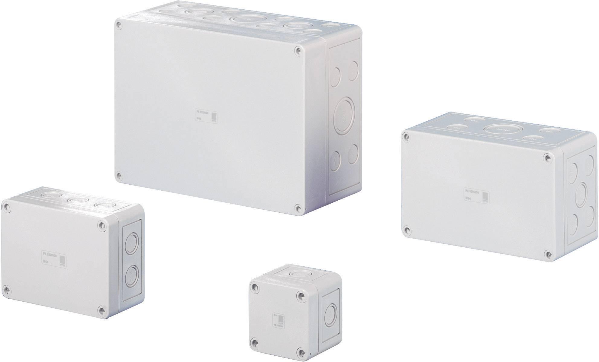 Inštalačná krabička Rittal PC 9508.050, (š x v x h) 130 x 94 x 57 mm, polykarbonát, svetlosivá (RAL 7035), 1 ks