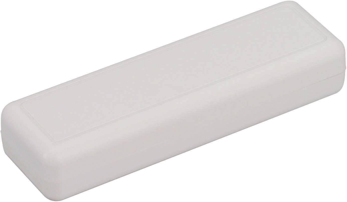 Plastová krabička TRU COMPONENTS TC-6090 GR203, 129 x 40 x 24 mm, ABS, šedá, 1 ks