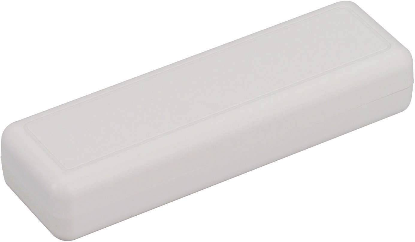 Plastová krabička TRU COMPONENTS TC-6090 GR203, 129 x 40 x 24 mm, ABS, sivá, 1 ks