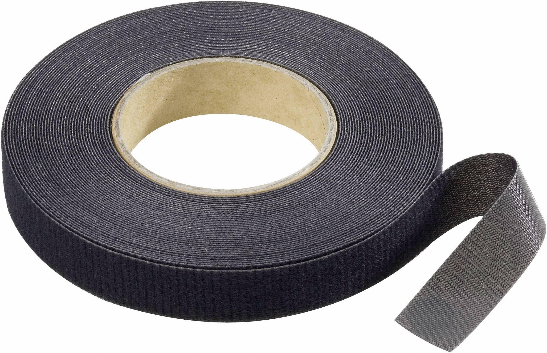 Pásik so suchým zipsom Binder Band (d x š) 10000 mm x 16 mm, čierna, 10 m