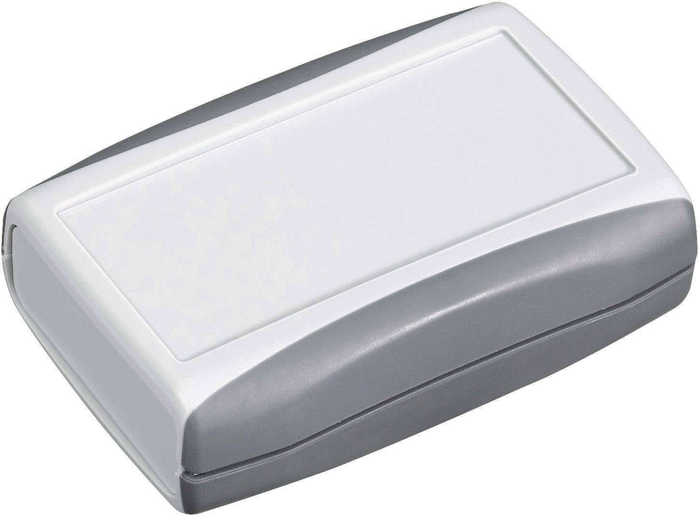 Plastová krabička Pactec PP2AA, 28 x 94 x 63 mm, ABS, svetlo sivá, 1 ks