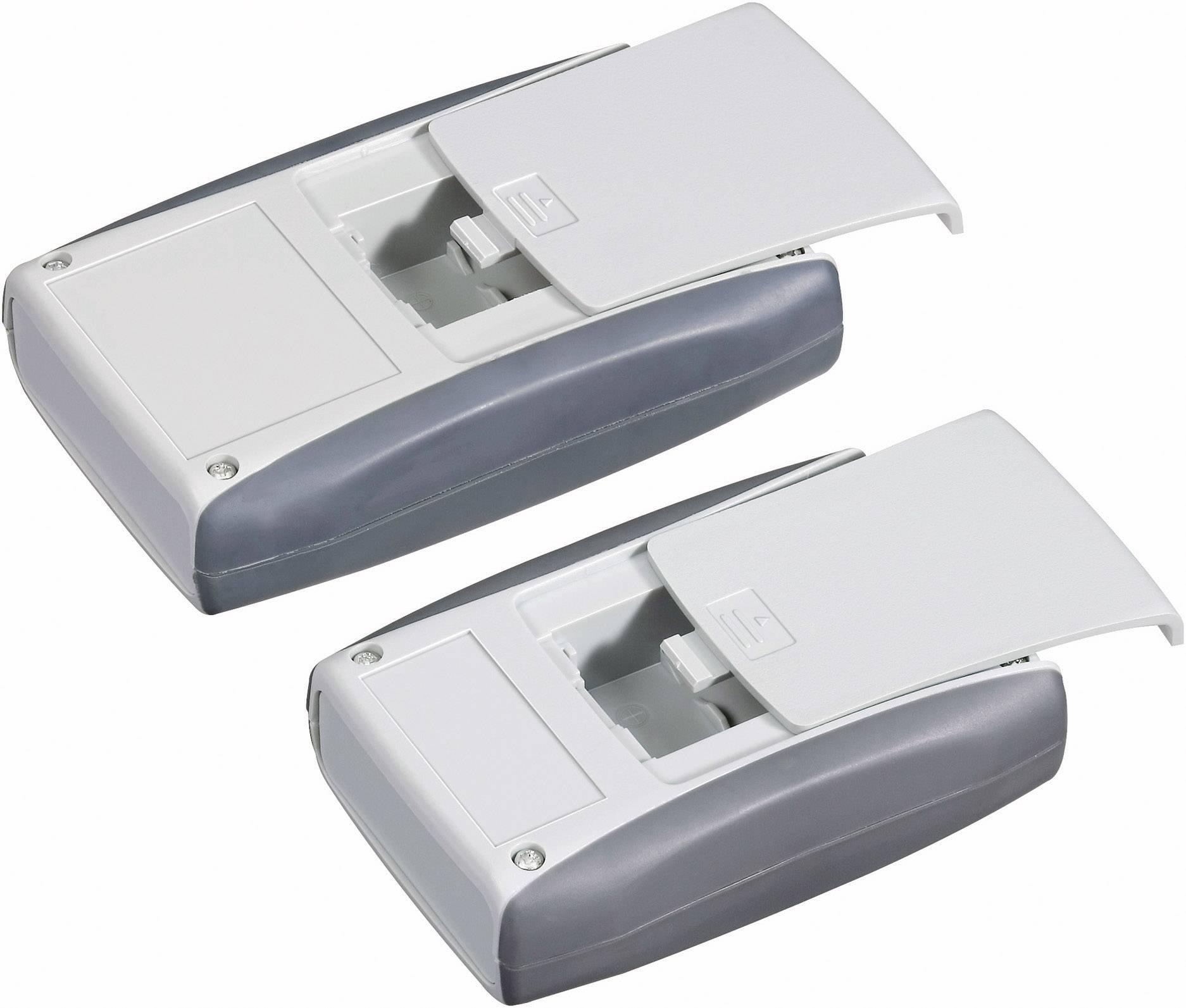 Plastová krabička Pactec PPL-2AA, 28 x 110 x 63 mm, ABS, svetlo sivá, 1 ks