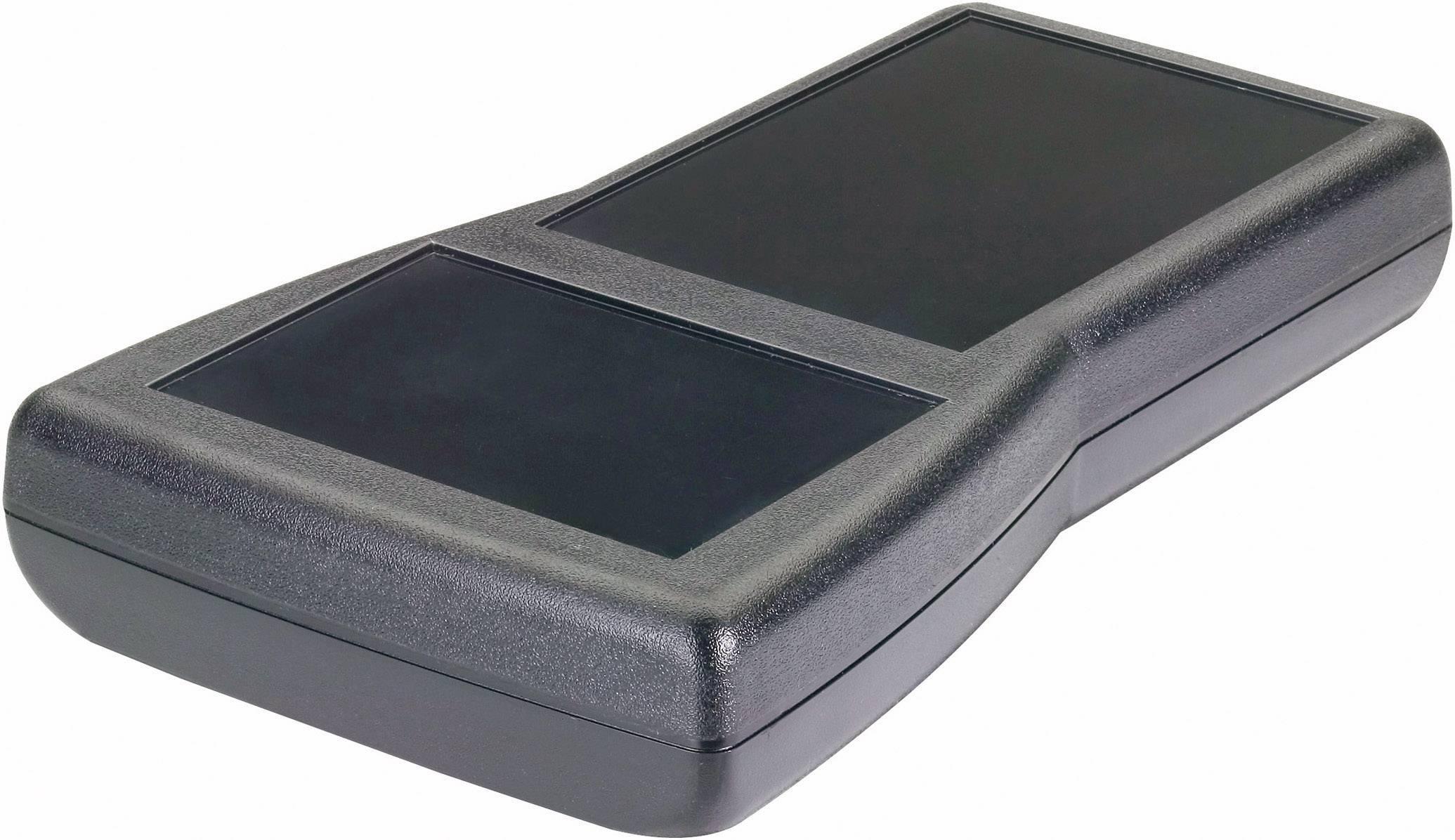 Plastová krabička Pactec TR-9VB/2AA, 32 x 196 x 112 mm, ABS, čierna, 1 ks