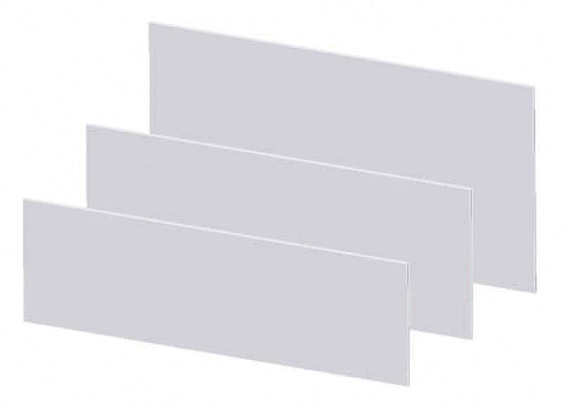 Čelní panel TRU COMPONENTS TC-215 X 81 X 2MM203, (d x š x v) 215 x 81 x 2 mm, plast, šedá, 1 ks