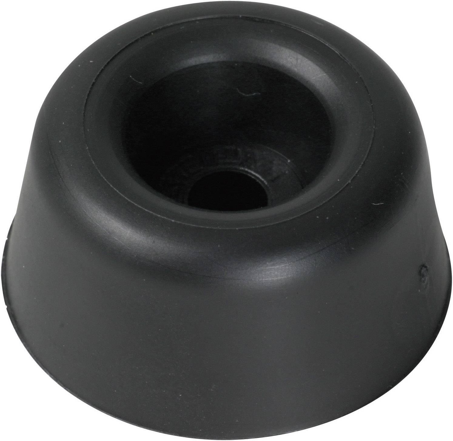Tlmič nárazov (Skrutkovateľná) PB Fastener 100495, (Ø x v) 20 mm x 13 mm, čierna, 1 ks