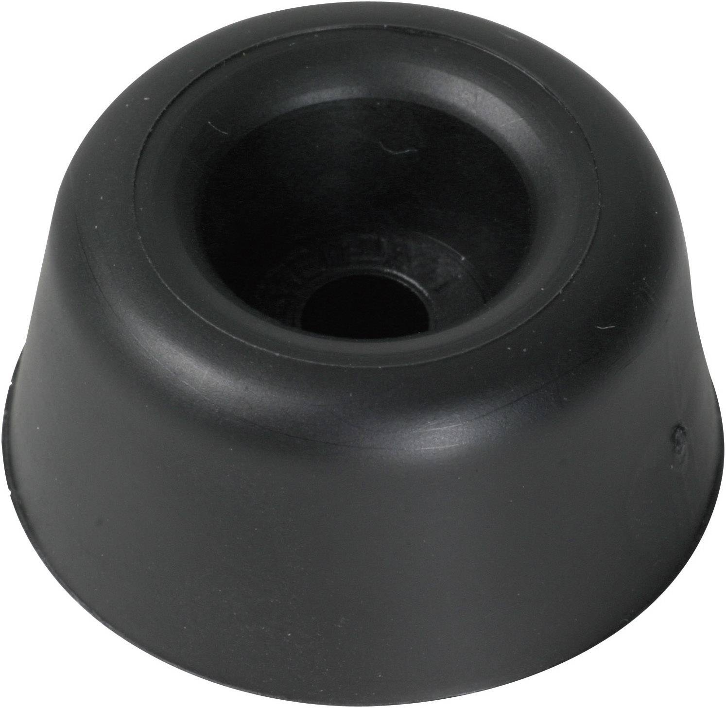 Tlmič nárazov (Skrutkovateľná) PB Fastener 100961, (Ø x v) 25 mm x 10 mm, čierna, 1 ks