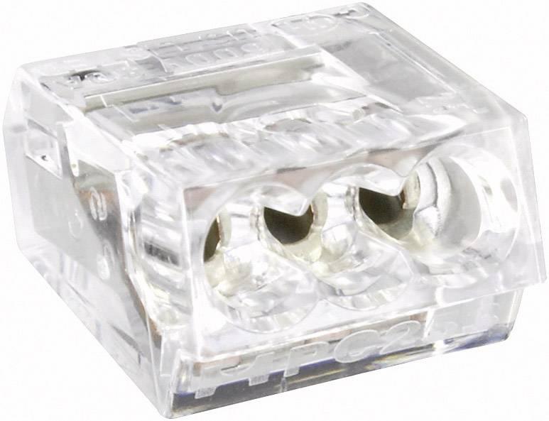 Krabicová svorka na kábel s rozmerom - , pólů 2, 1 ks, priehľadná