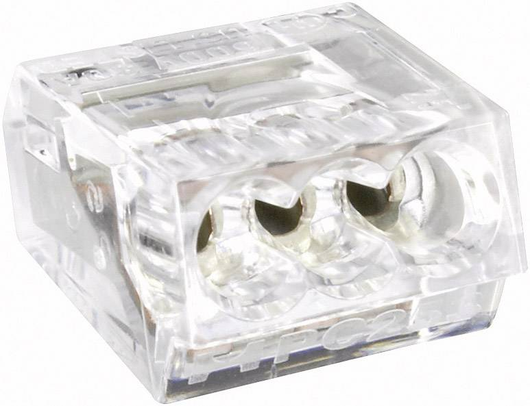 Krabicová svorka na kábel s rozmerom - , pólů 4, 1 ks, priehľadná