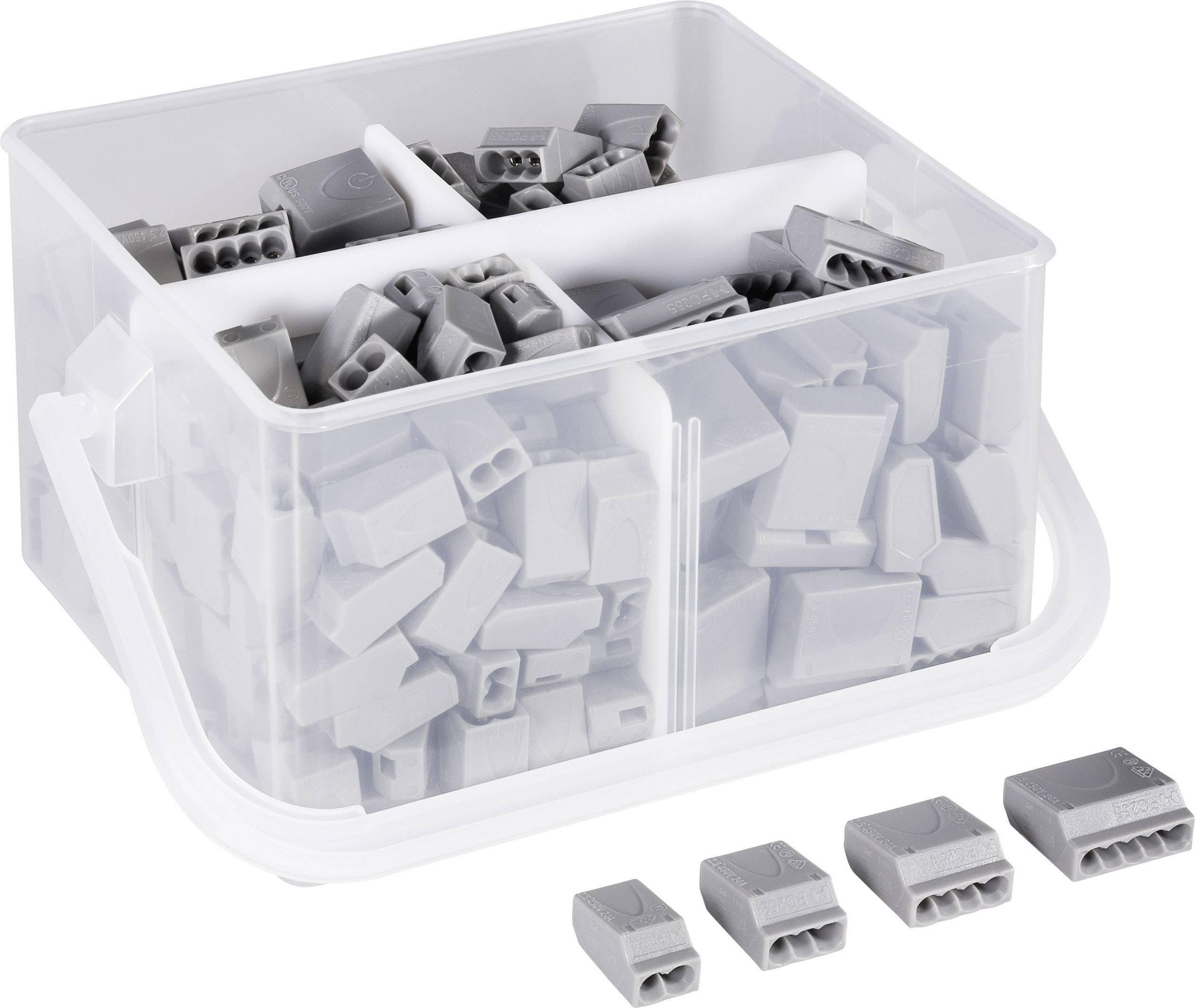 Krabicové svorky 523563 na kábel s rozmerom 0.25-2.5 mm², tuhosť 0.25-2.5 mm², 245 ks, sivá
