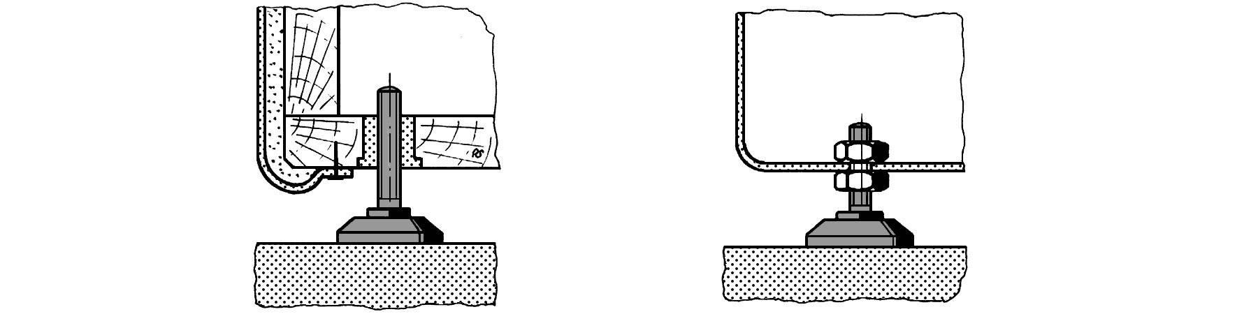 Podstavná nôžka prístrojová PB Fastener 148 3005 699 11, (Ø x v) 38 mm x 60 mm, čierna, 1 ks