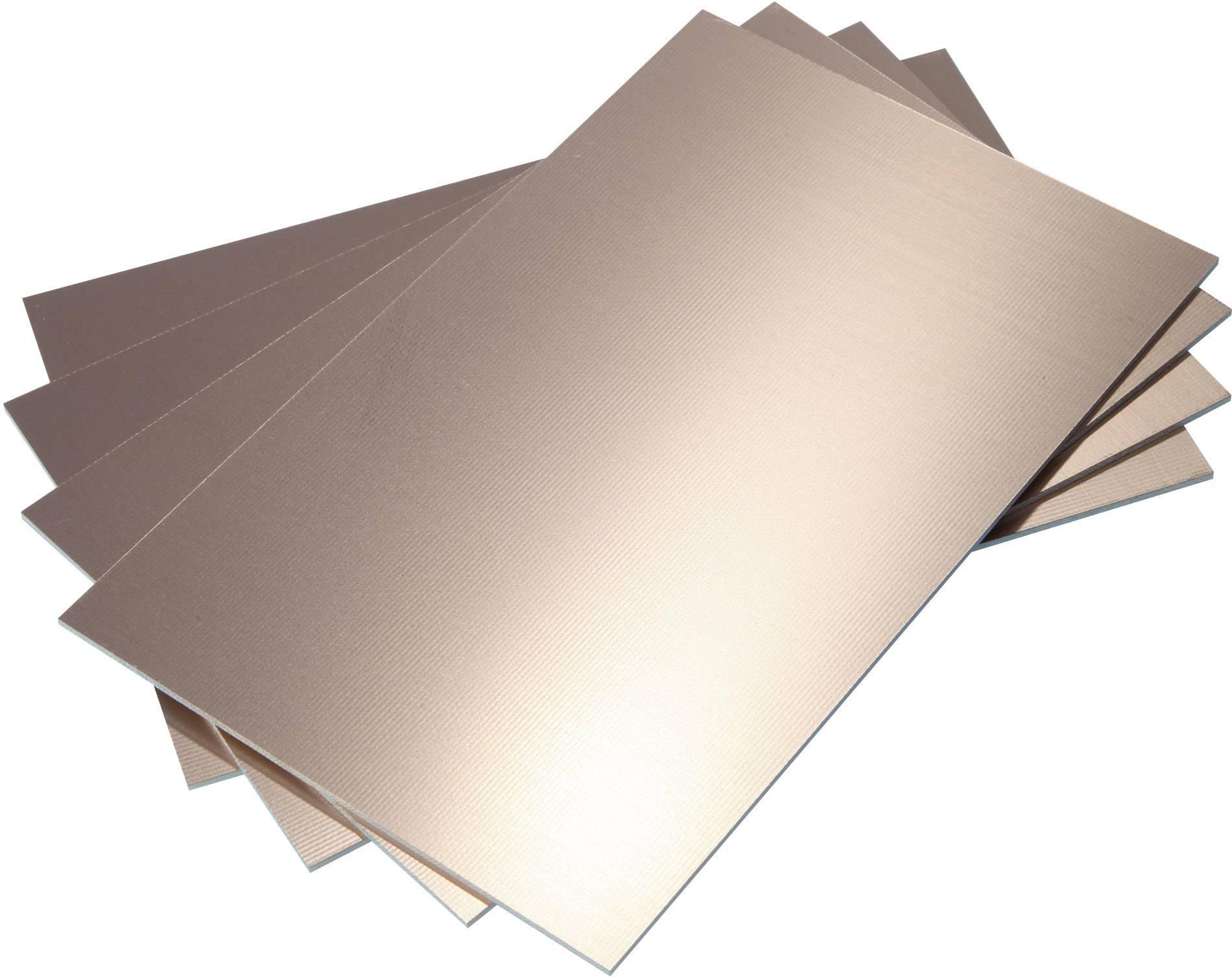 Epoxidová DPS Bungard 020306E70, 100 x 50 x 1,5 mm, jednostranná, epoxyd/měď 35 µm