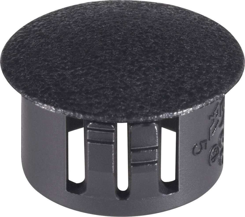 Uzáver / záslepka PB Fastener 76143, čierna, 1 ks