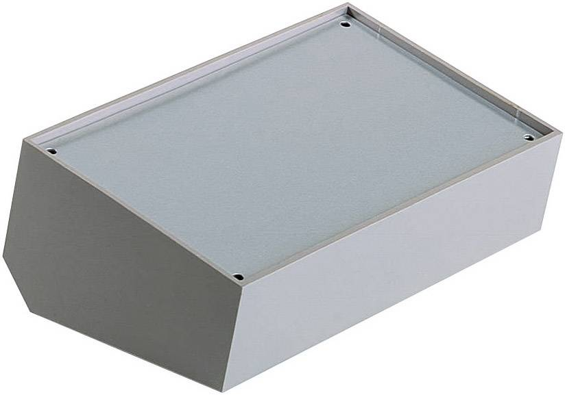 Pultové pouzdro plastové TEKO, (A x B x C x D x E) 160 x 95 x 45 x 60 x 39 mm, šedá;stříbrná