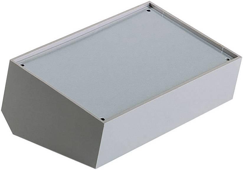 Pultové pouzdro plastové TEKO, (A x B x C x D x E) 215 x 130 x 65 x 75 x 46 mm, šedá;stříbrná (363)