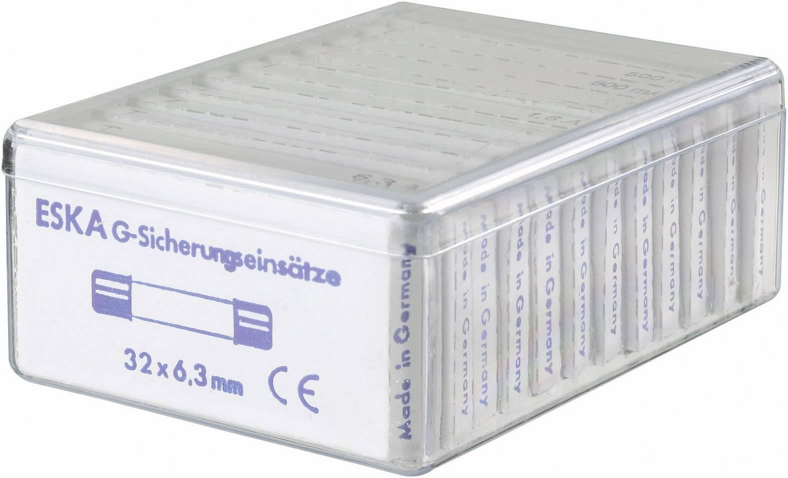 Sada jemných poistiek ESKA 632830, (Ø x d) 6.3 mm x 32 mm, pomalý -T-, 120 dielov
