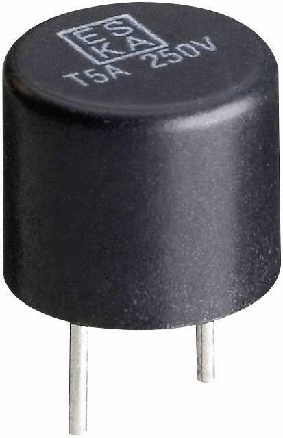 Mini pojistka ESKA 887023, radiální, kulatý, 4 A, 250 V, T pomalá, 500 ks