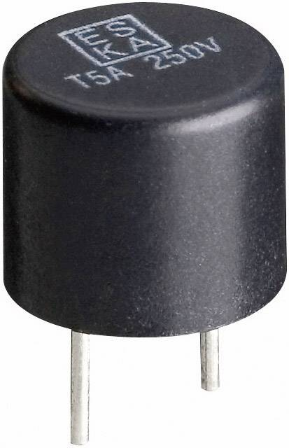 Miniaturní pojistka ESKA rychlá 885015, 250 V, 0,63 A, 8,4 mm x 7.6 mm